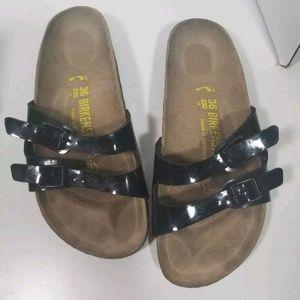 Birkenstock Ibiza Patent Leather double 2 strap 36